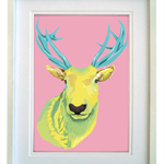 Stag/Deer - A4 geometric modern art print - FREE registered delivery