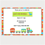 Printable Train Birthday Invitations