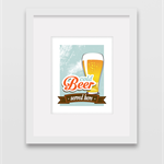 Cold Beer - Wall Art Print