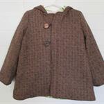 Wool blend jacket, vintage lining, size 3, toddler