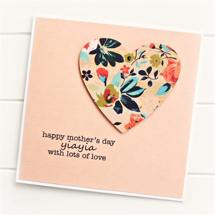 Nonna Mother/'s Day card Nonna birthday card heart Happy Mother/'s Day Nonna