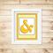 Printable Ampersand Wall Art - Yellow- Digital File