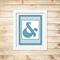Printable Ampersand Wall Art - Blue - Digital File