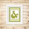 Printable Ampersand Wall Art - Green - Digital File