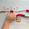 Wooden Counting Strings - Rekenrek - Preschool Bead strings - wood bead abacus