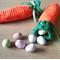 Carrot pouch, easter gift bag