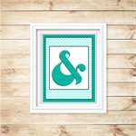 Printable Ampersand Wall Art - Aqua - Digital File