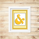 Wall Art - PRINTABLE - Ampersand - Yellow