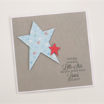 Twinkle twinkle little star baby card