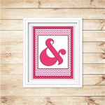 Wall Art - PRINTABLE - Ampersand - Pink