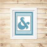 Wall Art - PRINTABLE - Ampersand - Blue