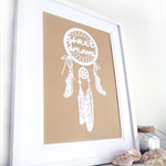 "DREAMCATCHER Papercut artwork ""sweet dreams"" - A4"
