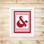 Wall Art - PRINTABLE - Ampersand  - Red