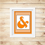 Wall Art - PRINTABLE - Ampersand - Orange