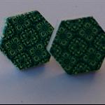 Retro Green Wooden Earrings
