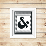 Wall Art - PRINTABLE - Ampersand - Black