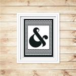 Printable Ampersand Wall Art - Black - Digital File