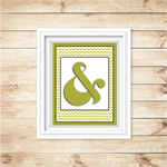 Wall Art - PRINTABLE - Ampersand - Green