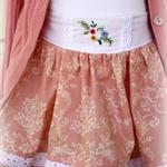 Size 2 Mem Rose skirt OOAK