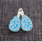 White Daisies~ Wooden Lever Back Earrings