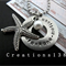 Underwater Ocean creature:Starfish necklace,Personalized glass pearl starfish na