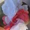 bridesmaid hairpiece wedding white, pink handmade flowers with Swarovski crystal