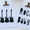 Rock Baby & Guitar collage's 8x10 -  Made to order