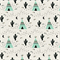 Fitted Cot Sheet in Cactus & Teepee - 100% Cotton Designer Nursery Sheets