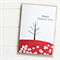 Happy Mother's Day card birds and tree red blossoms