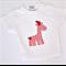 Giraffe applique white t-shirt
