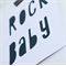 Rock Baby collage 8x10 -  Made to order