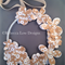 flower girl paper flower pearl detailed wreath wedding bridal party bouquet