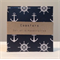Coasters, drink coasters, ceramic tile coaster, nautical anchors, dark navy