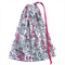 Drawstring Library Bag. French. Paris. Eiffel Tower. Stamped Name Option.