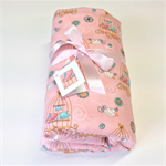 Baby Blanket - Sweet birdies for a girl