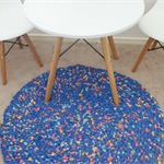 """Round Floor Rag Rug in """"To Infinity and Beyond"""""""