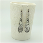 Spoon Drops silver spoon handle earrings from antique silver spoons