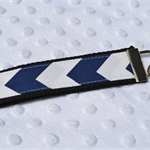 Wrist Key Fob - Navy Chevron