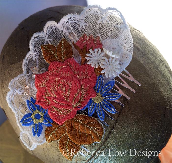 Bridal hairpiece wedding bridesmaid vintage lace