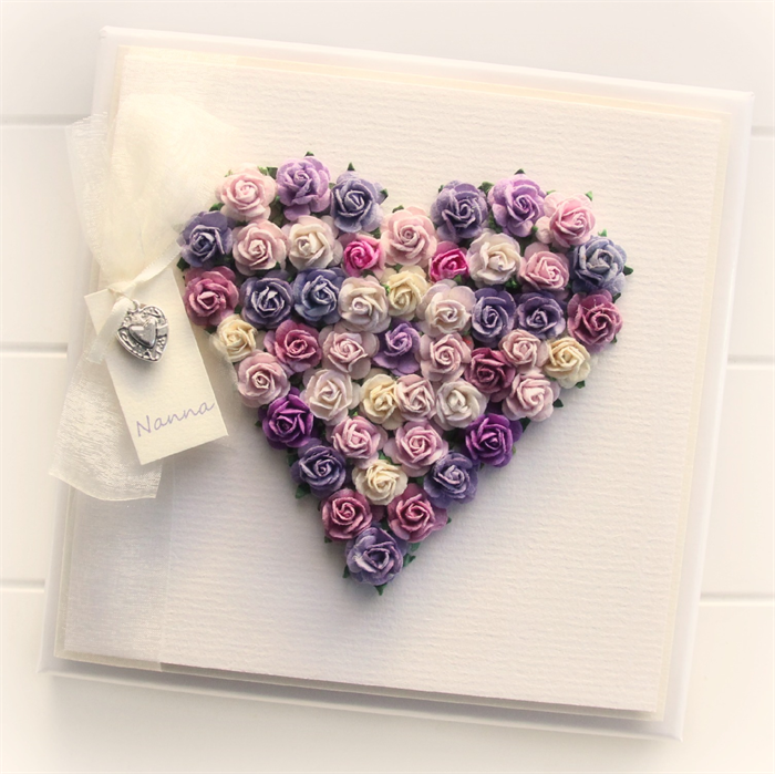 Nanna heart card purples paper roses gift boxed birthday mothers nanna heart card purples paper roses gift boxed birthday mothers day bookmarktalkfo Image collections