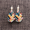 Abstract~ Lever Back Earrings
