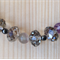Swarovski Crystals, Amethysts, Rose Quartz. Hermatite & Silver. Size:46.5cm.