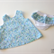 Blue Floral Swing Top with Ruffle Nappy Cover