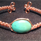 Wire Wrapped Bracelet with a Green Turquoise Bead