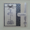 Deluxe silver embossed, ribbon & lamppost Wedding and Engagement Congratulations