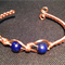 Wire Wrapped Bracelet with Lapis Beads