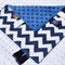 Navy Chevron Tactile Comforter