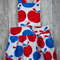 Vintage pinafore - size 4 - girls dress - retro pinny