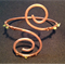 Hammered Copper Wire Wrapped Bracelet with Peridot Chips