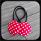 White Polka Dots on Red: 28mm Hair Elastics